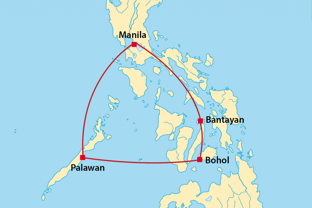 Philippinen Reiseroute