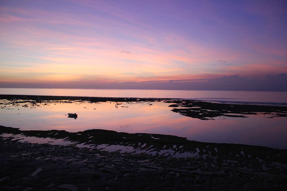 Sonnenuntergang am Bingin Beach