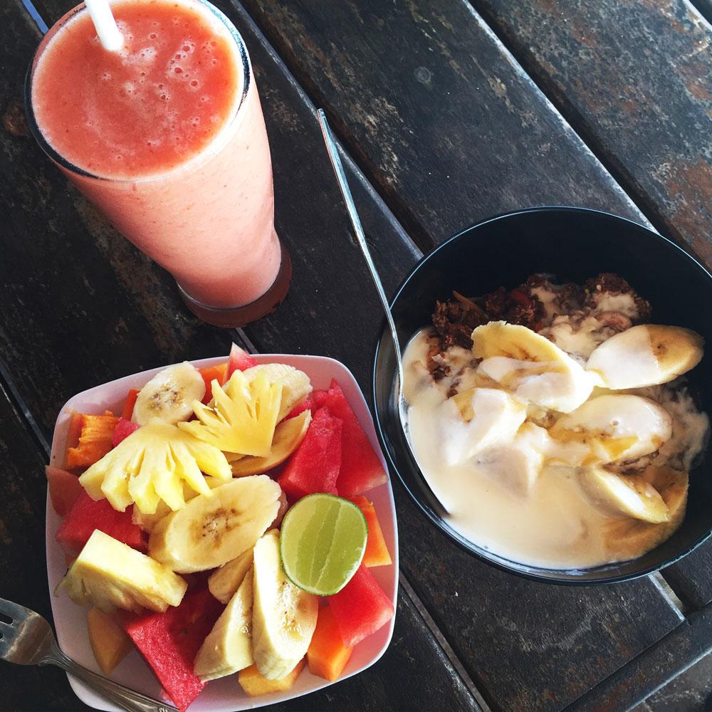 Frühstück bei Swamis Warung