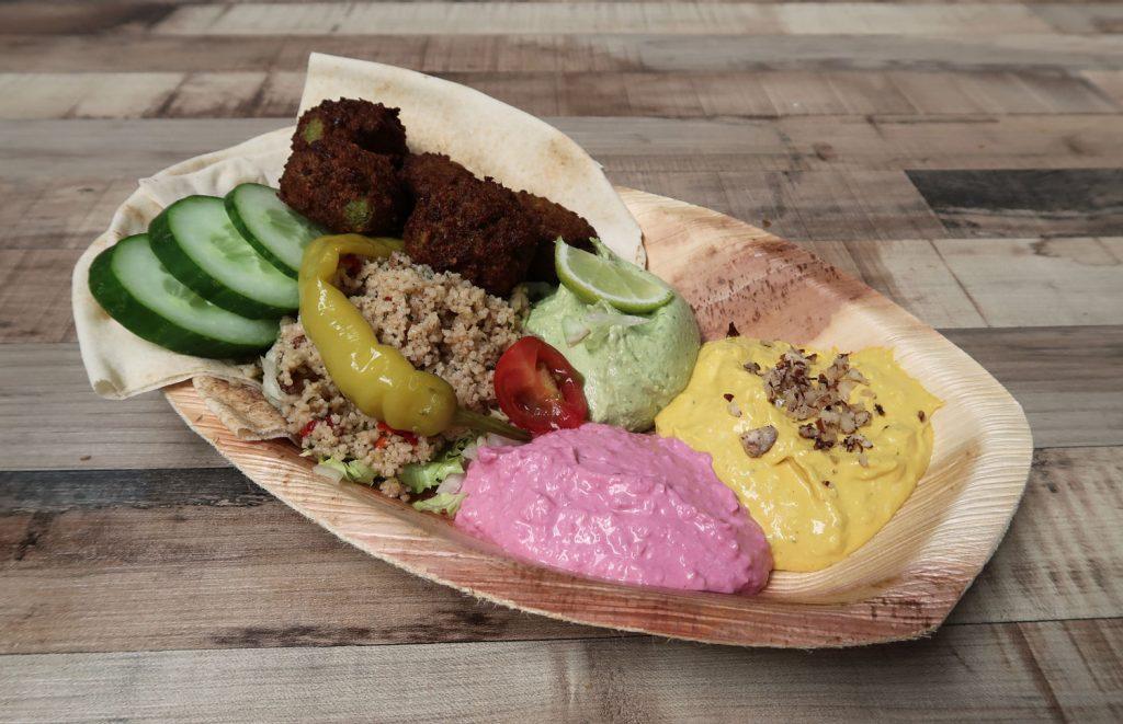 Falafel und Humus Platte