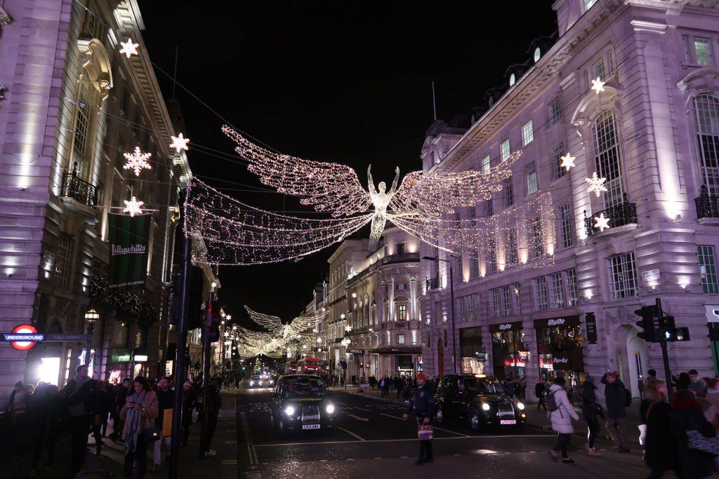 Weihnachtsschmuck in London