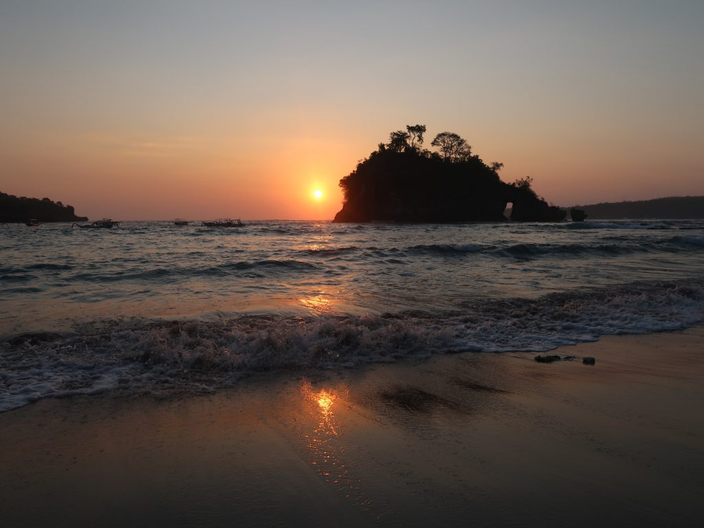 Sonnenuntergang auf Nusa Penida