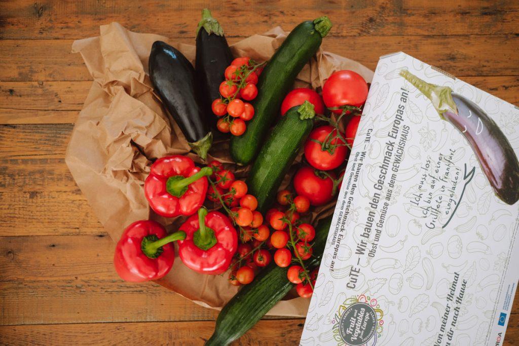 frisches Gemüse aus einem südeuropäischen Solar-Gewächshaus